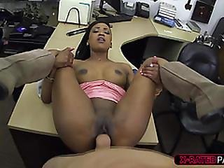 Hot And Ebony Chick Walks In To Buy Golf Clubs Gets Fucked By Shawn