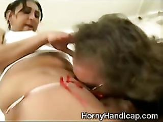 Nasty Old Cripple Gets Lucky With A Young Chubby Girl