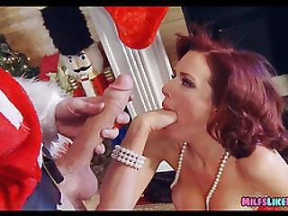 Sucking Off Santas Big Candy Cane