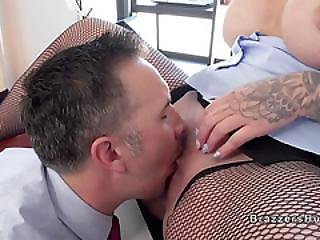 Huge Tits Blonde Boss Bangs Her Employee