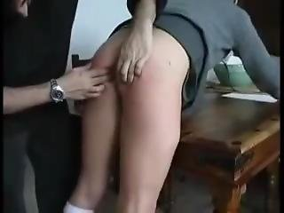 Schoolgirl Spanked/caned Hard And Must Take A Anal Fuck