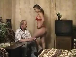 Old Russian Fucks Young Hot Babe (part1)