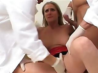 Jane S Tits Were On The Sore Side So She Scheduled An Exam Too Bad These Docs Were Not Only Interested In Feeling Her Tits But Her Wet Pussy Too This Bitch Just Got Scammed