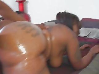 Two Big Black Butts Fucked Hard