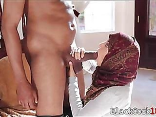 Arab Babe Nadia Ali Sucks And Gets Fucked By Big Black Cock