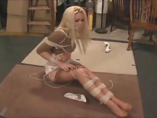 Karyna Leggy Blonde Bound & Gagged