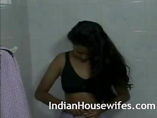 ερασιτεχνικό, μεγάλο βυζί, ινδικό, ντους