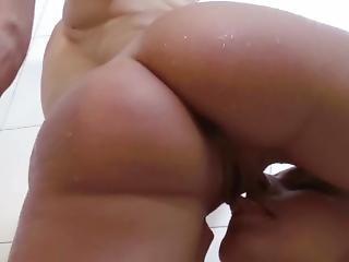 Teen Sucks Pussy Lips Of Milf In Shower Makes Her Pee