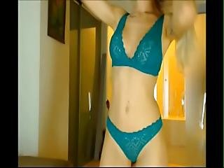 Pretty Girl In Lingerie Dancing And Stripping On Chaturbate