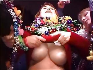 Big Boob, Boob, Flashing, Mardi Gras, Public