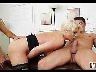 Big Booty Office Slut Takes Two Cocks Alexis Ford