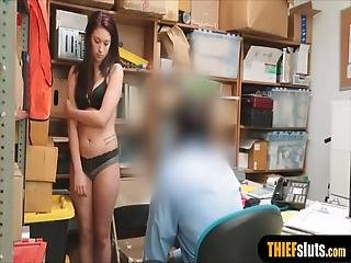 Shy Teen Thief Unusual Strip Searched And Punish Fucked