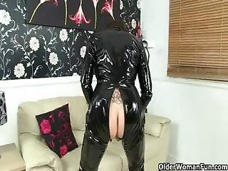 British, Catsuit, Grandma, Granny, Mature, Milf, Mother, Old