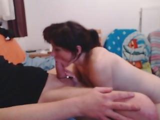 Submissive Polish Wife Enjoys Deepthroating Blowjob !