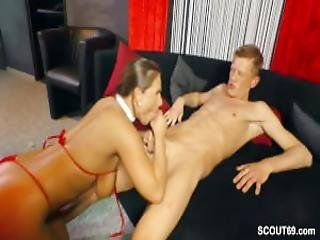 German Big Tit Milf Seduce Young Boy To Fuck When Alone
