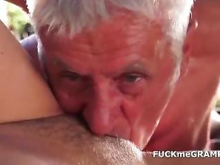Old Men Threesome