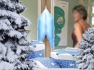 ερασιτεχνικό, μωρό, ώριμη, milf, χιόνι, teasing