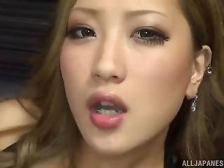 Aika Smokes Sucks And Swallow