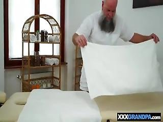 Grandpa Massages Tiny Body Teen And Then Fucks Her