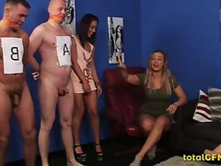 Sex Slaves Jacked Off By Babes