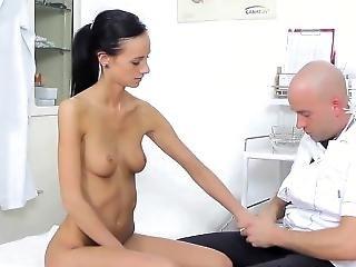 Skinny Girl Getting A Gyno Exam
