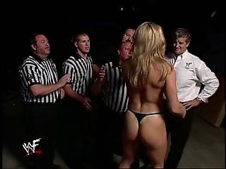 Wwe Divas Ivory Vs Tori Evening Gown Match (bra & Panties)