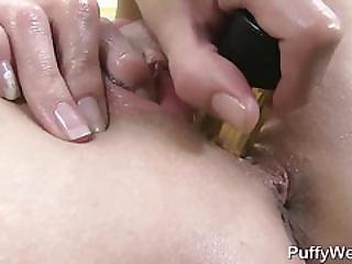 Blonde Is Vacuuming Clit