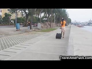 Traveler Fucks A Filipina Flight Attendant
