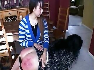Business Woman Spanked For Inappropriate Attire