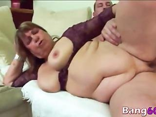 Dominika Fat Granny Sideways Young Dong Couch