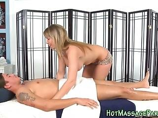 Hooters Masseuse In Heels Blows And Jerks For Cumshot In Hd