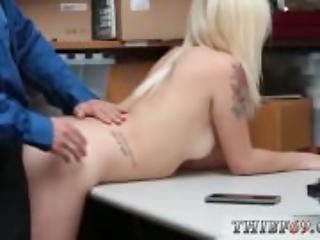 dupa, duży tyłek, blondynka, policjant, pierwszy raz, prostytutka