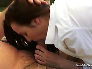 Grandpa Gets Pleasured By A Teen