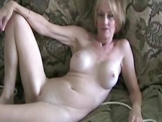 blonde, pipe, poitrine généreuse, deepthroat, gode, téléphone, rose, pov, chatte, sexy, rasée