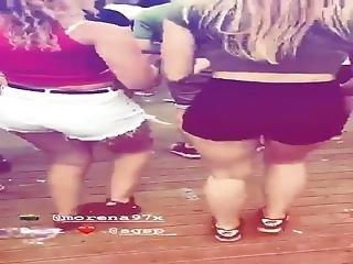 Dutch Festival Girls Shake Their Ass