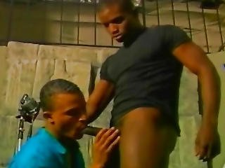 Dark Monster Cock On Black Gay Asshole