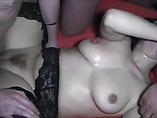 Euro Busty Brunnete And Blond Creampie