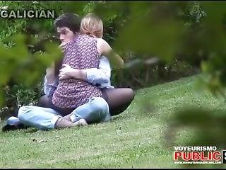 City Park Lovers - Public Voyeur Sex. Spy Cam Couple Fuck In The Bushes