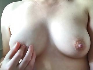 Playfully Teasing My Perky Nipples