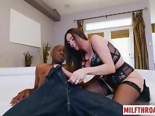 Brunette-milf-interracial-with-facial