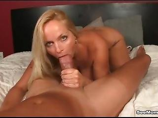 Horny Milf Gets Excited To See Big-dicked Guy Sleeping Naked
