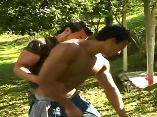 Beefy Gay Stud Getting His Ass Banged Outdoor
