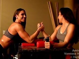Vanessa Armwrestling Amina