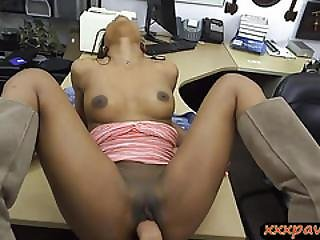 Sexy Ghetto Pounded By Horny Pawn Guy For The Golf Clubs