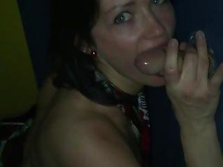 First Gloryhole For This Brunette 1