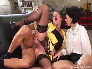 Sofie Valentine & Gioia Biel (black Stockings) Threesome