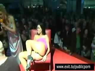 Public Masturbation And Orgasm Contest On Stage