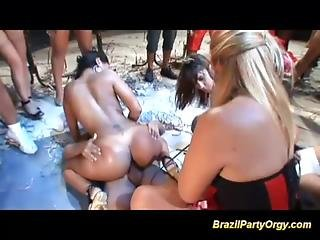Brazil Anal Party Orgy