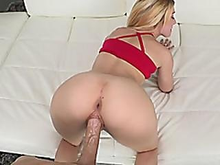 Hot Ass Blonde Teen Gives Head And Gets Fucked By Big Dick