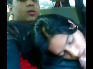 Desi Girl Giving Blowjob In Car To Boyfriend
